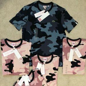 new lacoste men t shirt camo authentic X-small